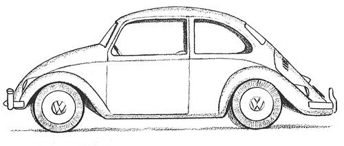Desenho De Fusca: Como Desenhar Um Fusca (Passo A Passo)