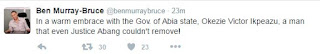 Ben Murray-Bruce hugs governor Ikpeazu, throws shade at Justice Abang