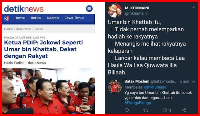 Ketua PDIP Sebut Jokowi Seperti Umar bin Khattab, Ini Tanggapan Makjleb Warganet