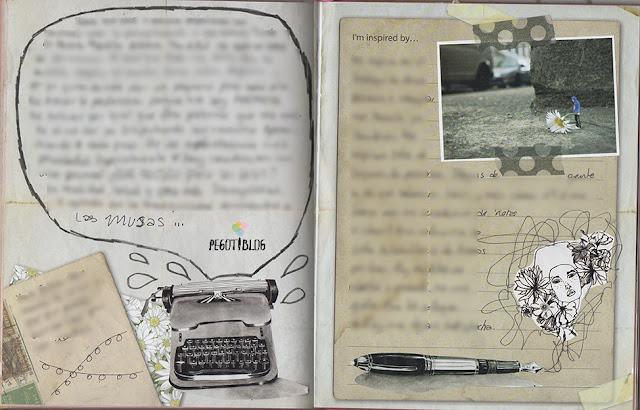 página de art journal escritura