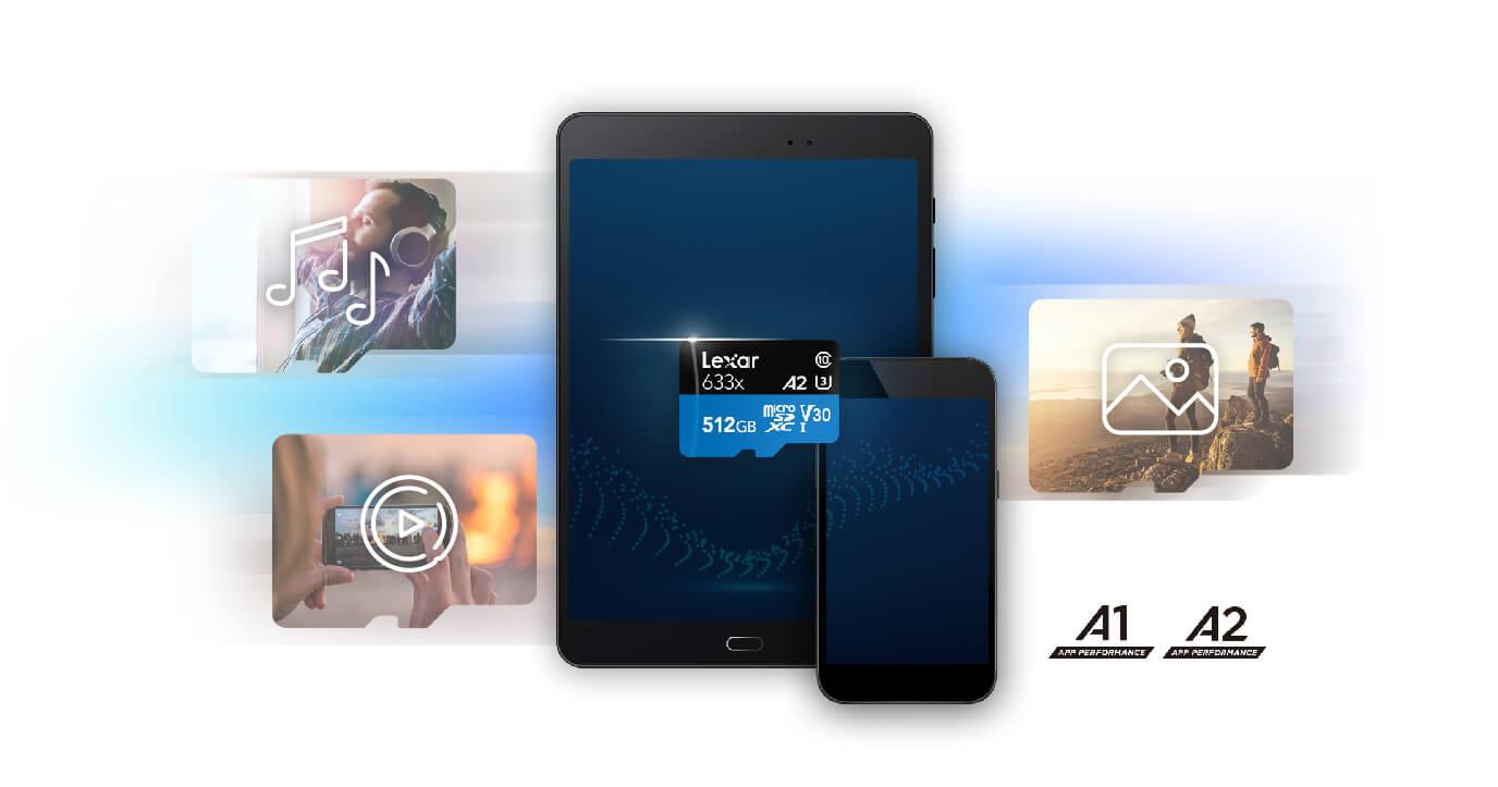 Lexar MicroSD 512GB 633x UHS-I US A2 V30 Class 10