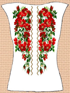 Заготовка для вишивки жіночої сорочки без рукавів (СЖБР-001)  Екстравагантна шипшина 3af5603b3d15e