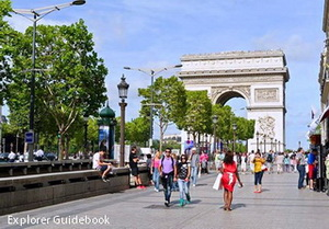 Tempat wisata terkenal di Paris Perancis Arch de Triomphe Paris