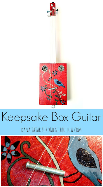 Keepsake Box Guitar Tutorial by Dana Tatar for Walnut Hollow