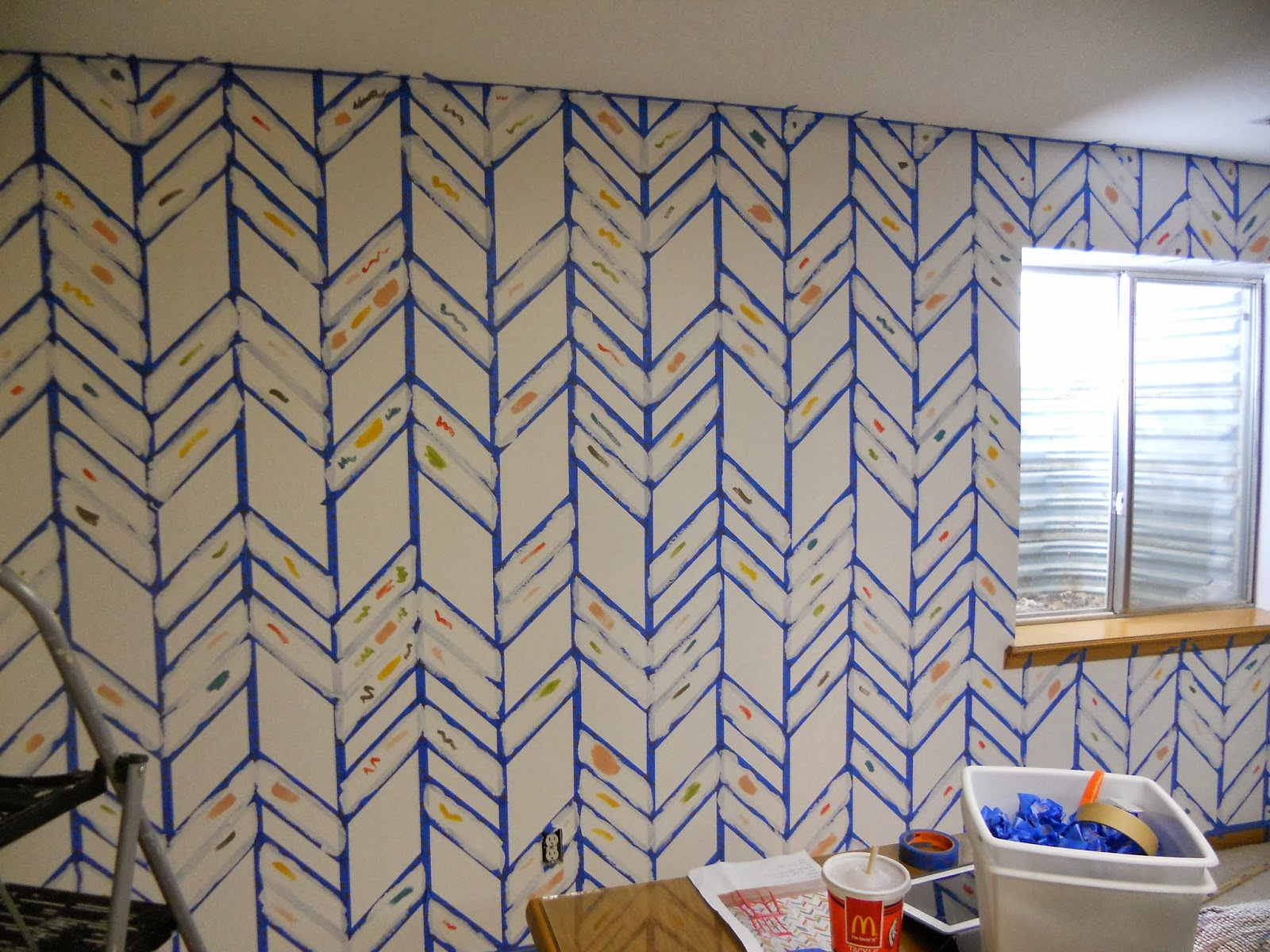 Just Another Hang Up: Herringbone Accent Wall -- Finished!