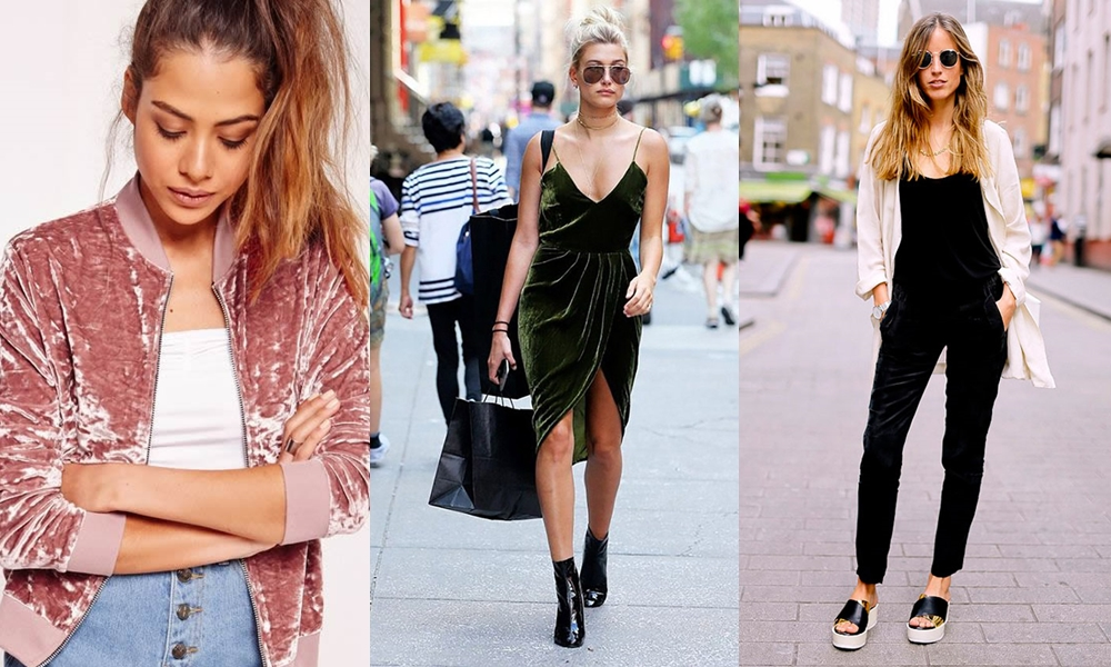 veludo - Tendências de moda outono/inverno 2017