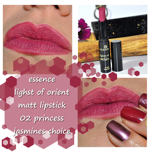 [geschminkt] essence - lights of orient - matt lipstick 02 princess jasmines choice