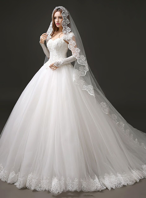 Charming/Simple Sweetheart Cap-Sleeve Ball Gown Straps Brush Train Wedding Dress