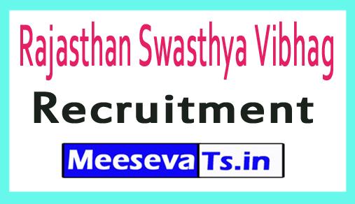 Rajasthan Swasthya Vibhag Rajswasthya Recruitment