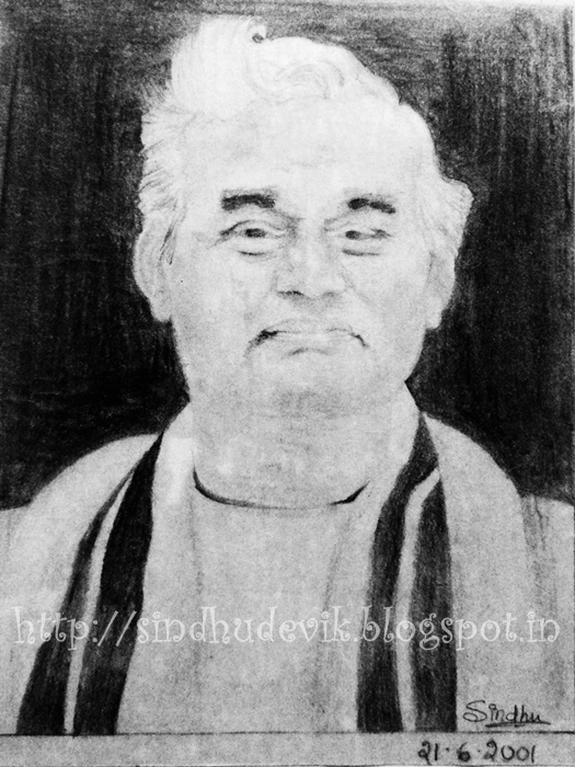 A portrait of former prime minister of India, Shri Atal Bihari Vajpayee done using graphite pencils.