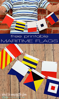 Free Printable Maritime Flags | Complete set of A-Z International Maritime Signal Flags | Instant Download