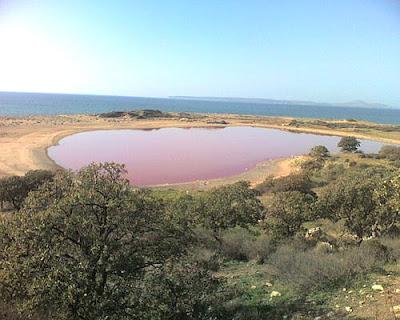 pembe tuz gölü, bozcaada