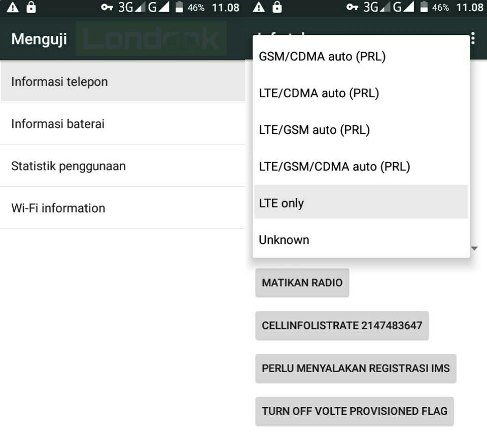 Lock 4G LTE di ponsel Android