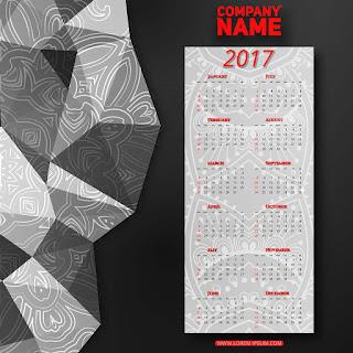 2017カレンダー無料テンプレート138