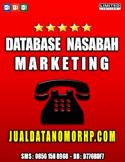 Jual Database Nasabah Prioritas Marketing