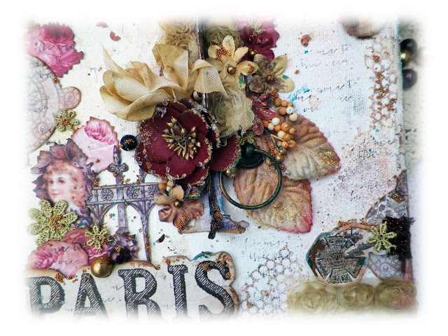 Paris Canvas by Lisa Novogrodski for the Frank Garcia Design Team/ Prima Marketing using Tales of You and Me