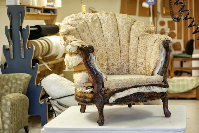 Back Barrel Chair Restoration