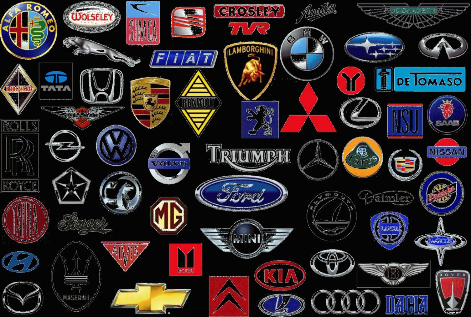 And Emblems Names Car List