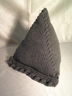 large knitted pyramid