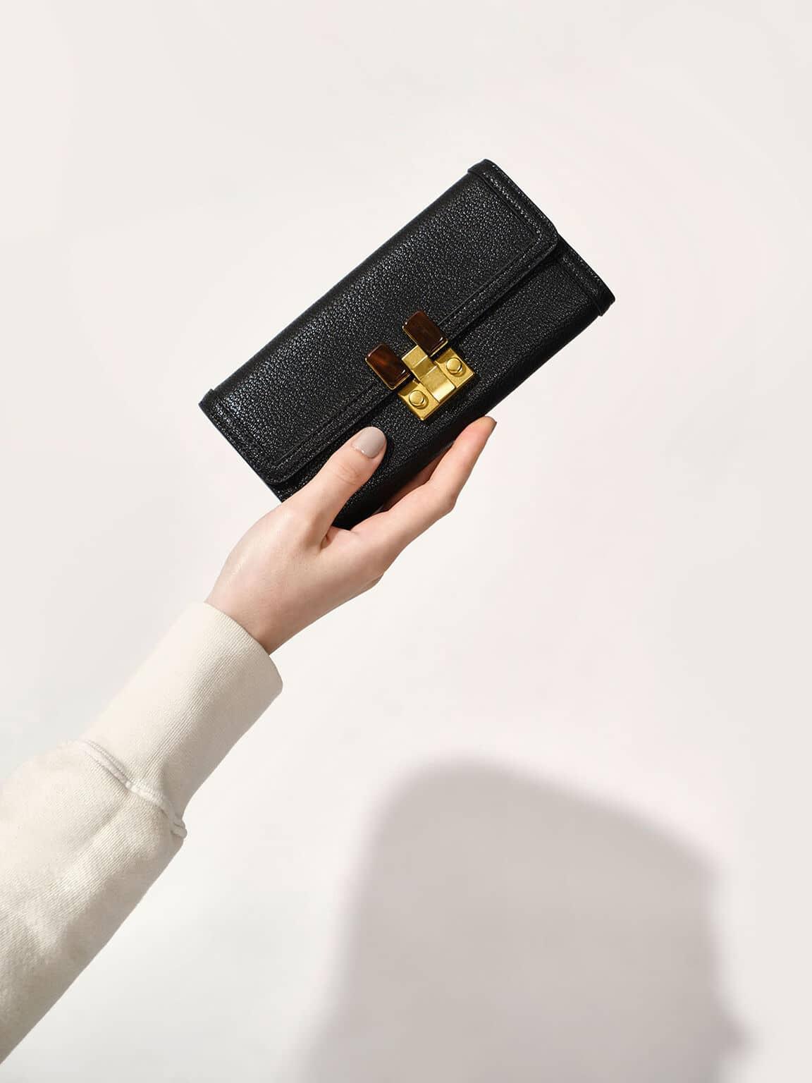 stone-embellished wallet