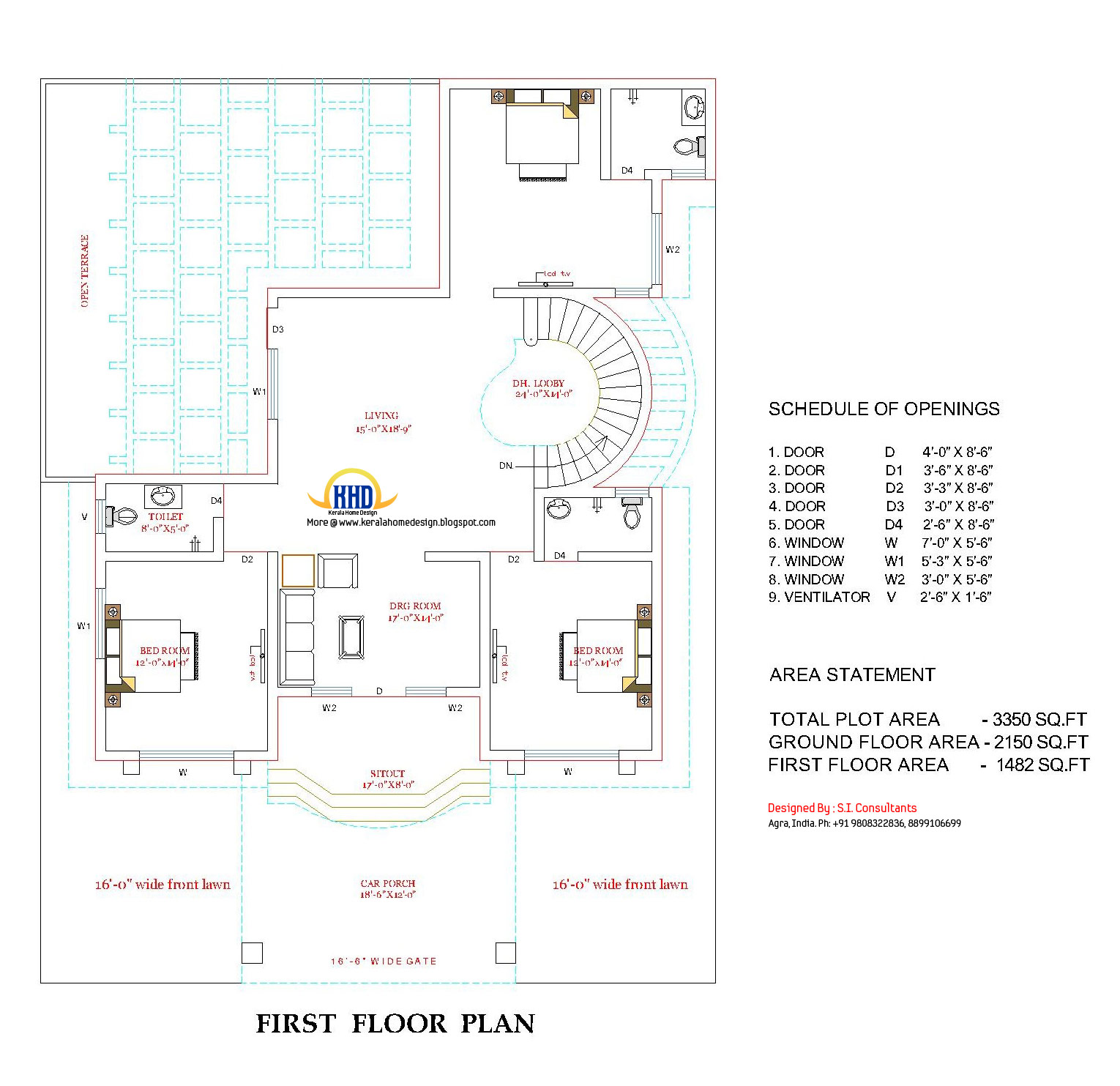 3350 sq ft beautiful double story house with plan home for Tk homes floor plans