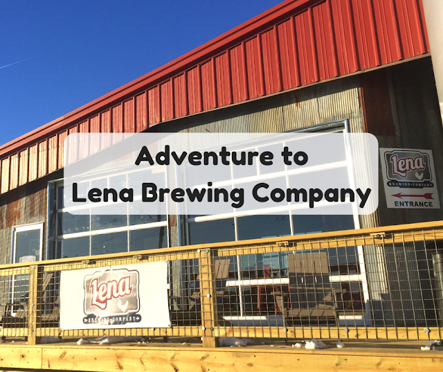 Sampling locally brewed craft beer at Lena Brewing Company in Lena, Illinois
