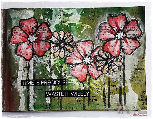 Time Is Precious (Mixed Media Art Journal) @ STAMPlorations