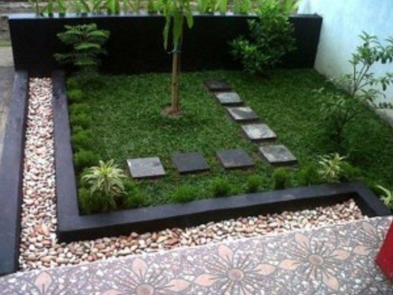 membuat taman kecil didepan rumah menarik