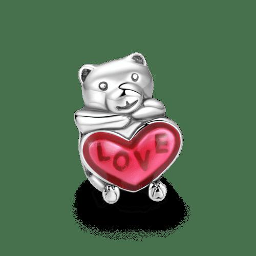 Baby Bear Charm Silver