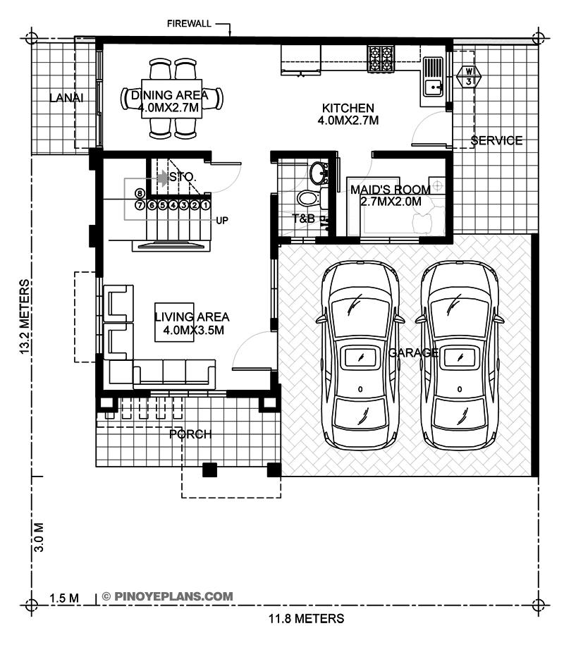 MyHousePlanShop: Double Story House Plan Designed To Be ...