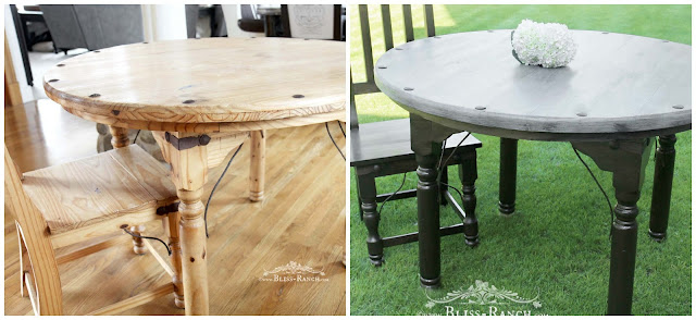 Weathered Gray Table Redo, Fusion Paint, Bliss-Ranch.com