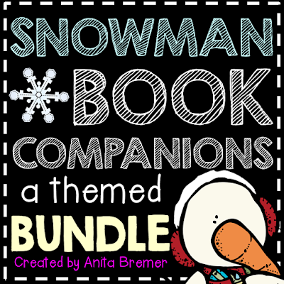 Favorite SNOWMAN themed books for kids! Book study winter companion activities and craftivities to go with each book. Packed with fun ideas and guided reading literacy activities Common Core aligned K-2