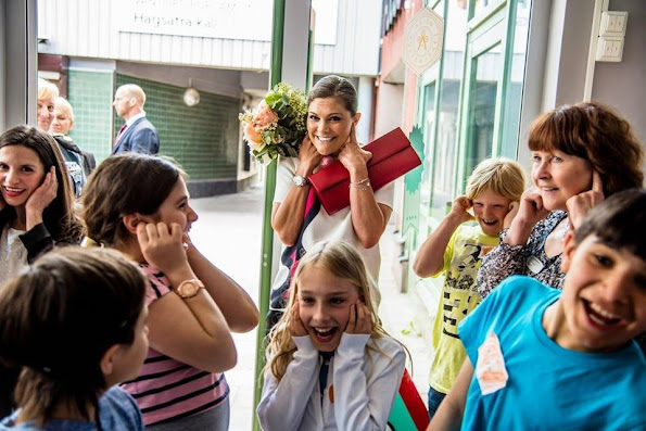 Crown Princess Victoria of Sweden attended opening of the writing workshop at the Hagsätra