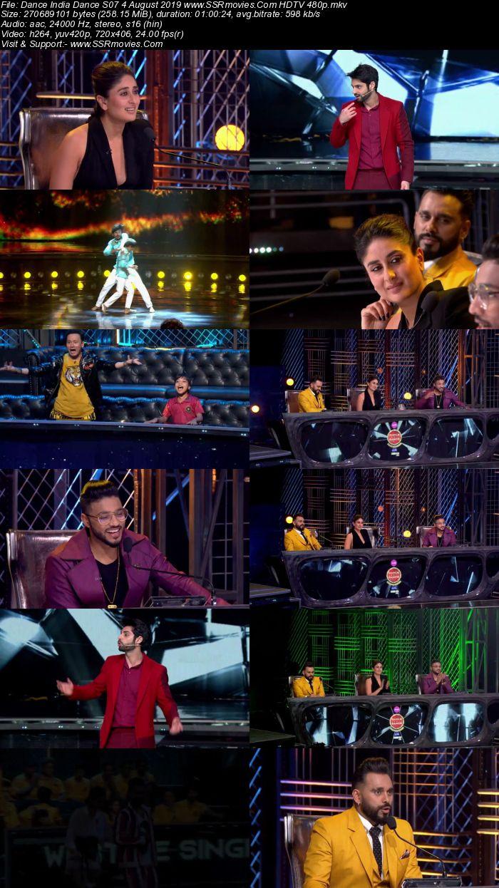 Dance India Dance S07 4 August 2019 HDTV 480p Full Show Download