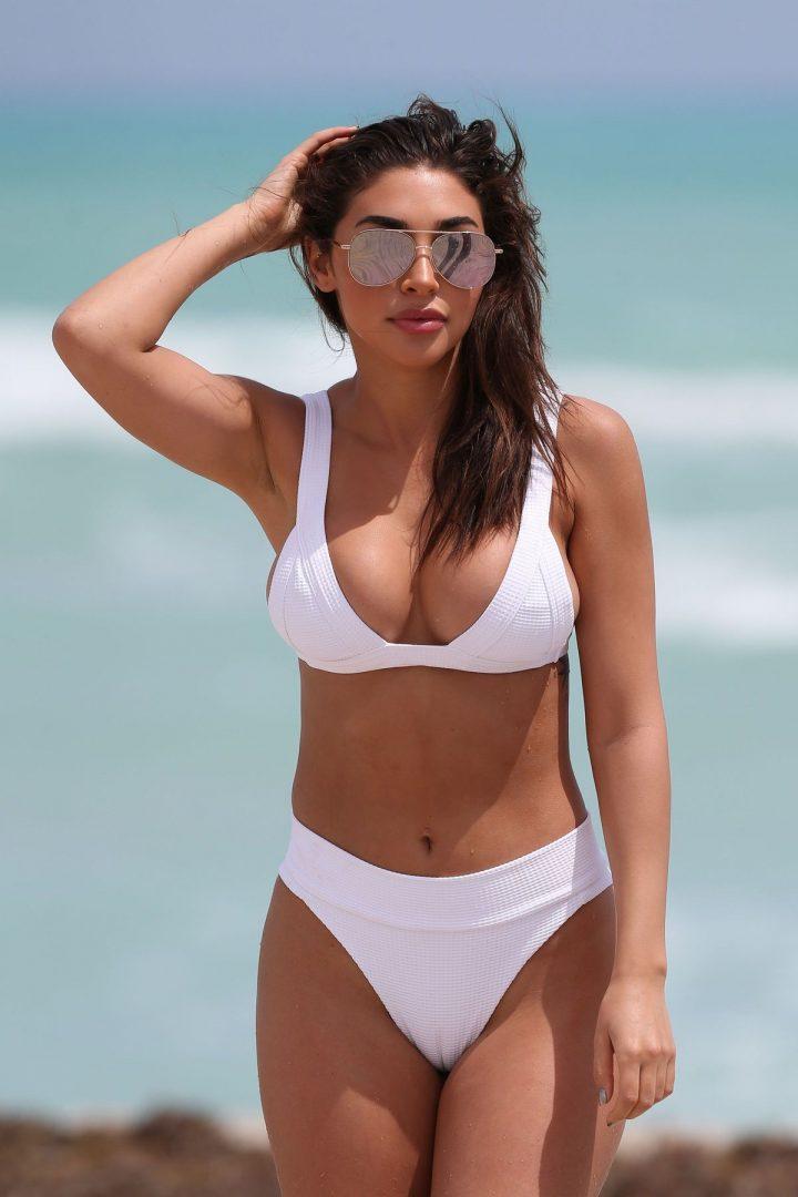 The Chantel Jeffries in white bikini in Miami