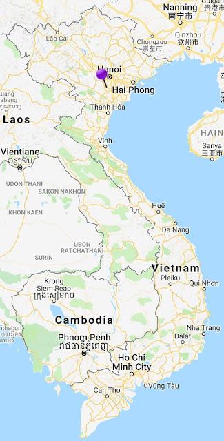 pin point map perfume pagoda vietnam