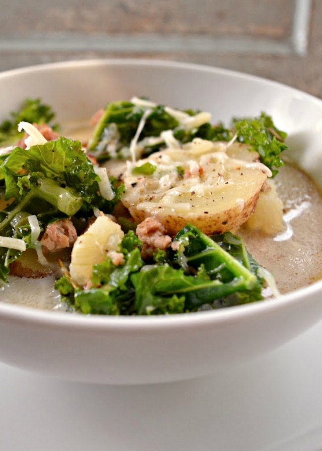 Sausage Kale Potato Soup like Zuppa Toscana from the Olive Garden is a family favorite recipe from Serena Bakes Simply From Scratch.