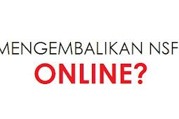 Pengembalian NSFP Tidak Terpakai Online?