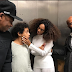 Lol. Beyonce's mum shares an elevator photo of Solange, JayZ and her son and the Internet runs with it
