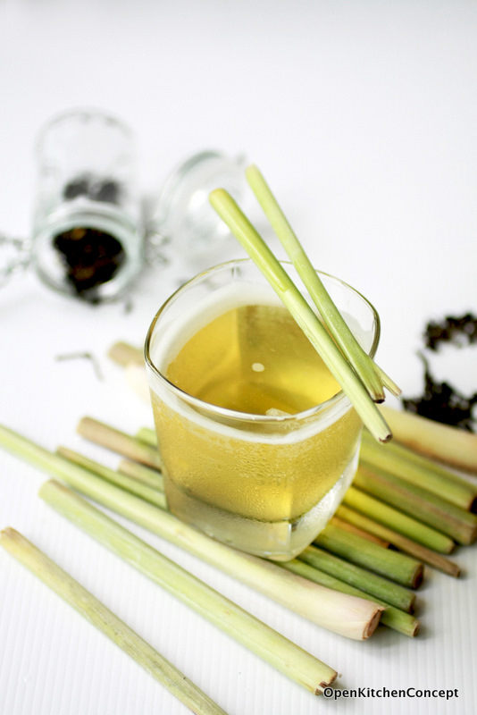 Open Kitchen Concept Iced Green Tea With Lemongrass