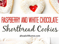 RASPBERRY AND WHITE CHOCOLATE SHORTBREAD COOKIES