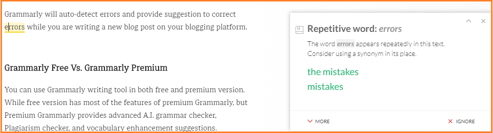 AI-enabled Proofreader Grammarly to write SEO Friendly