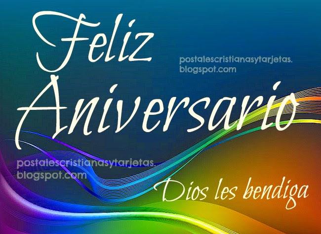 Mensajes De Feliz Aniversario Cristiano: Tarjeta Postal Feliz Aniversario