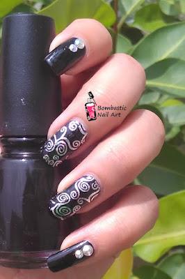 Black nail art