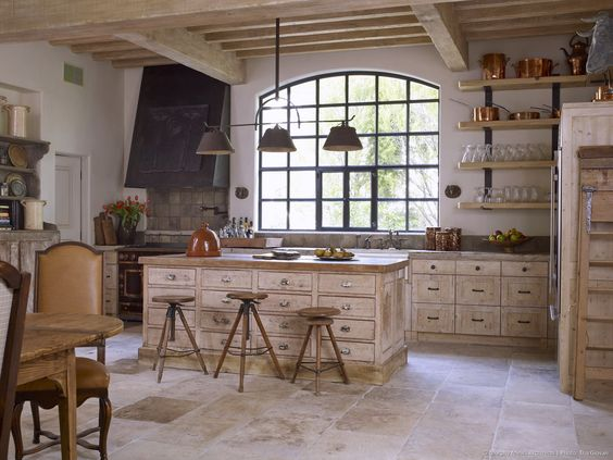 French country rustic kitchen by Eleanor Cummings