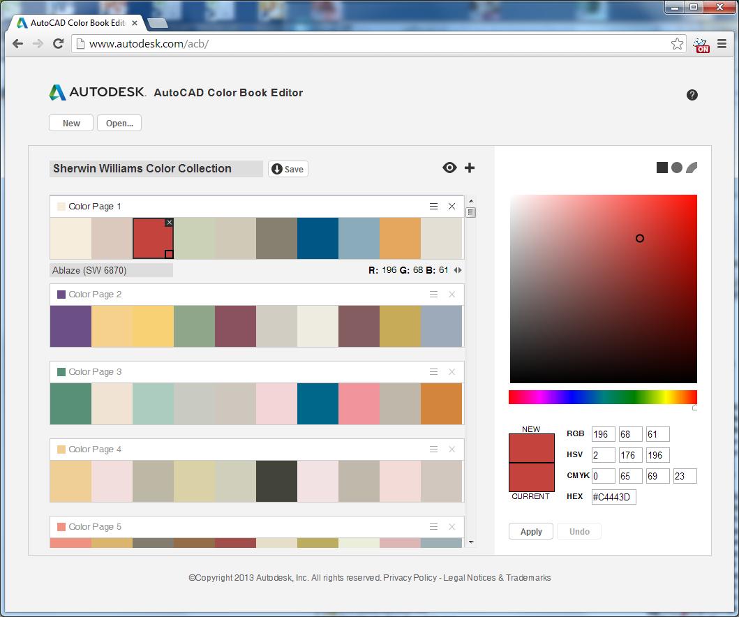 CAD Studio blog: Online editor knih barev pro AutoCAD