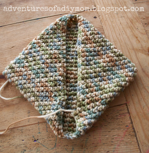 magic crochet potholder