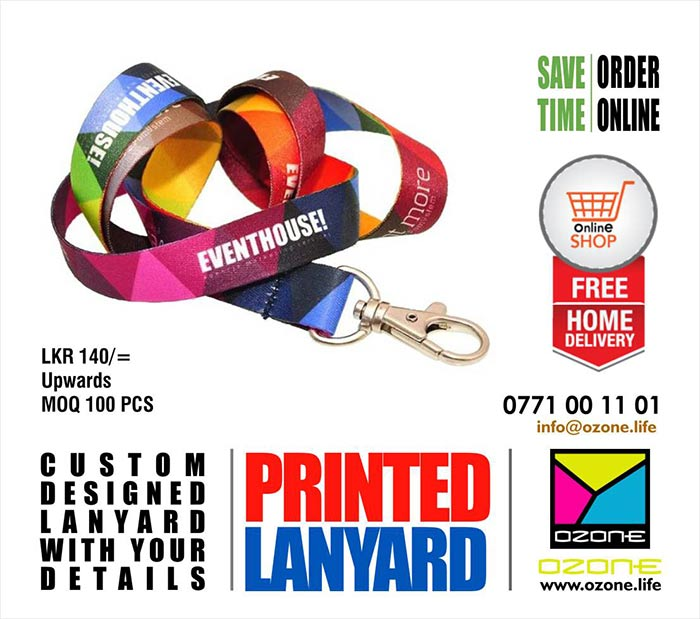 Ozone Branding | Full Color High Quality Lanyard and Event IDs Printing - First time in Sri Lanka.