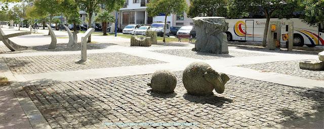 Escultura nos Passeios do O Grove
