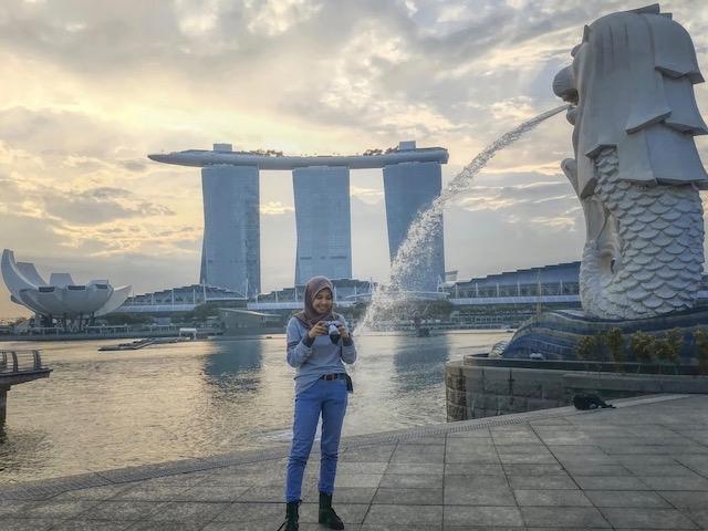 Foto saat di Singapore